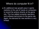where do computer fit in