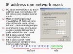 ip address dan network mask