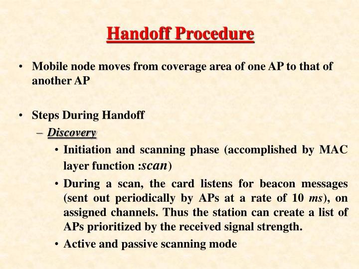 Handoff Procedure