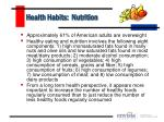 health habits nutrition