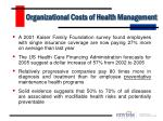 organizational costs of health management