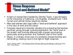 stress response tend and befriend model