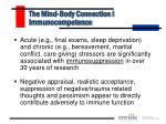 the mind body connection i immunocompetence