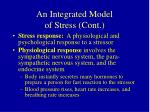 an integrated model of stress cont27