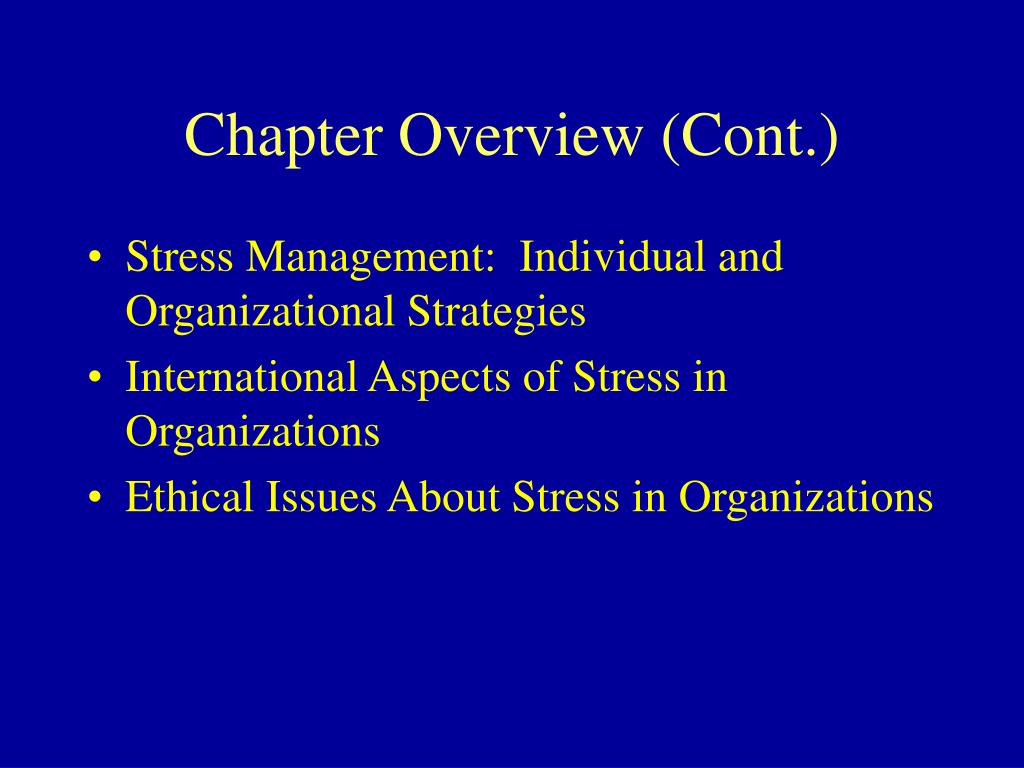Chapter Overview (Cont.)
