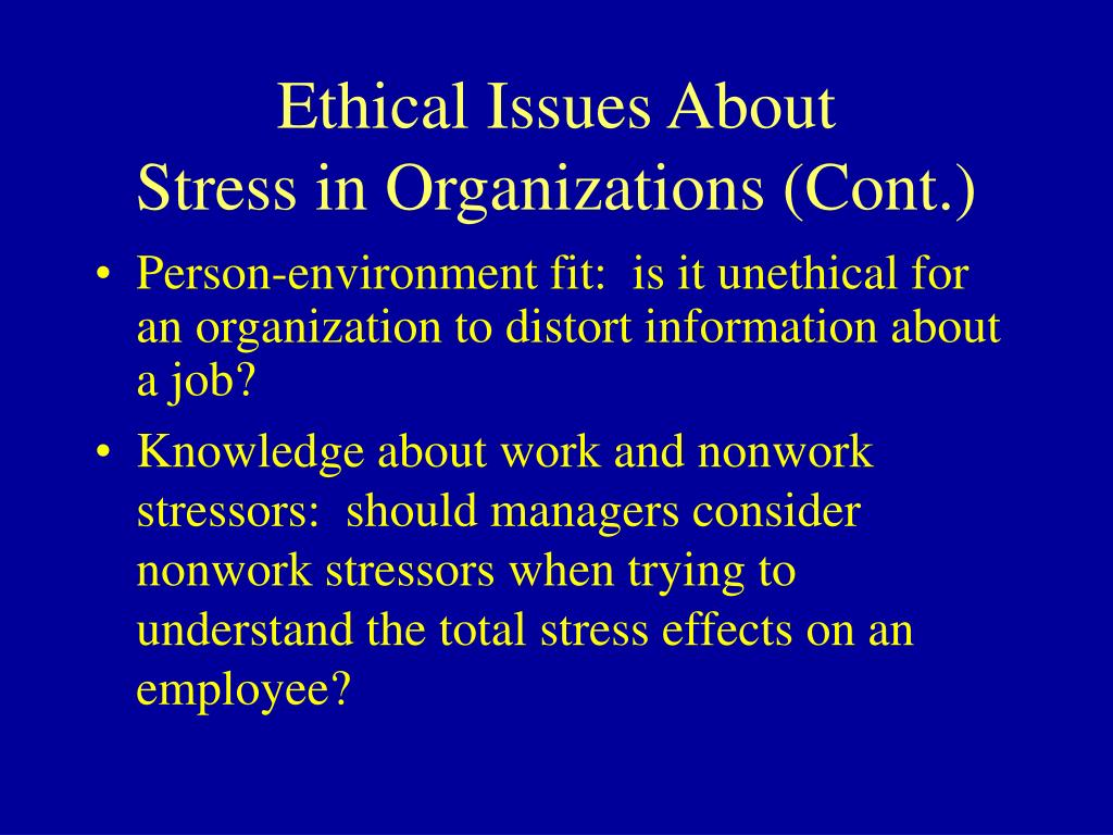 Ethical Issues About