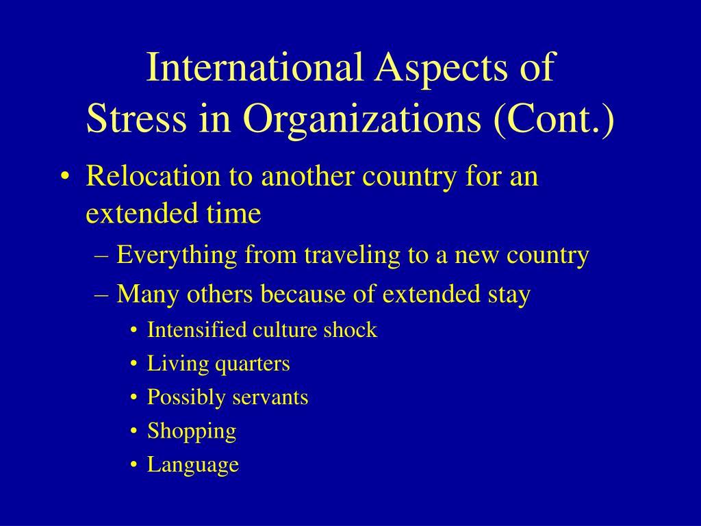 International Aspects of