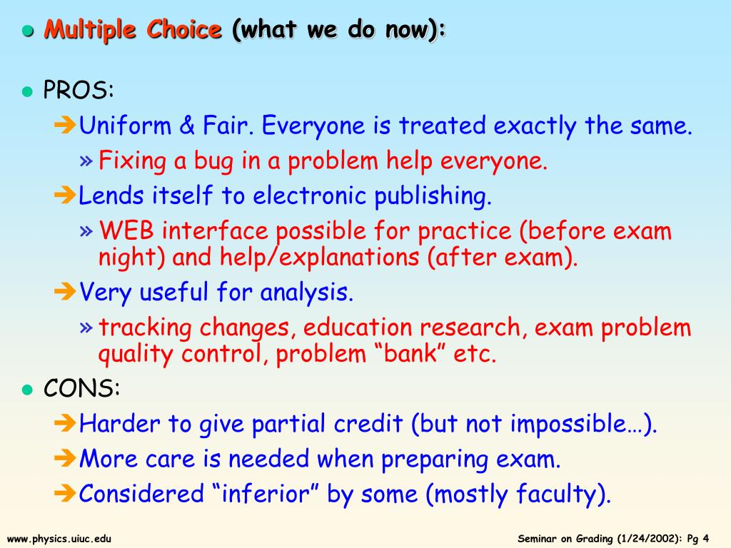 PPT - The Problem with Exams M  Selen, UIUC Physics PowerPoint