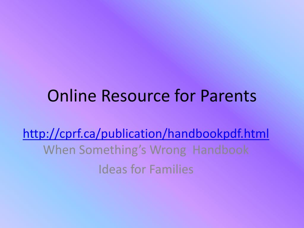 Online Resource for Parents