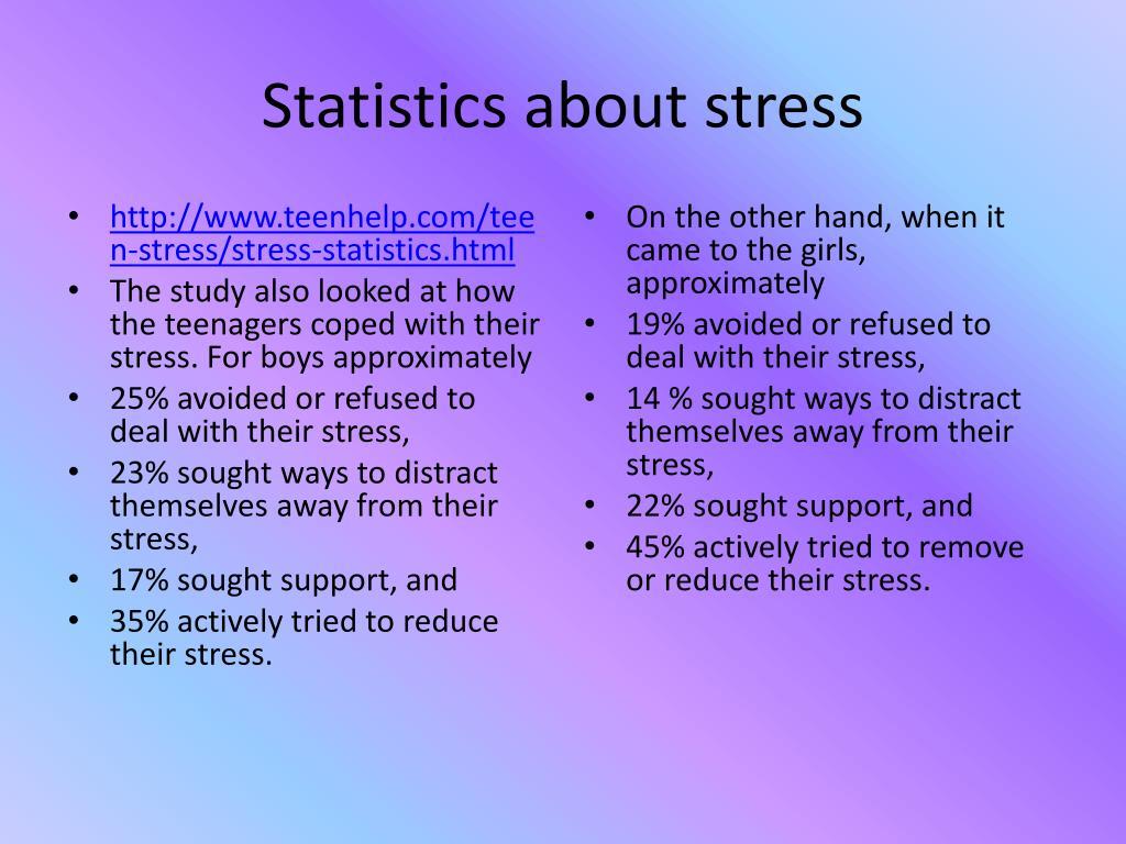 Statistics about stress