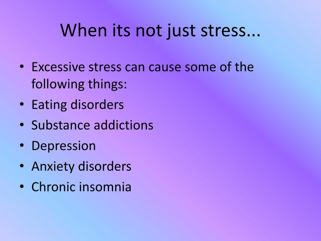 When its not just stress...