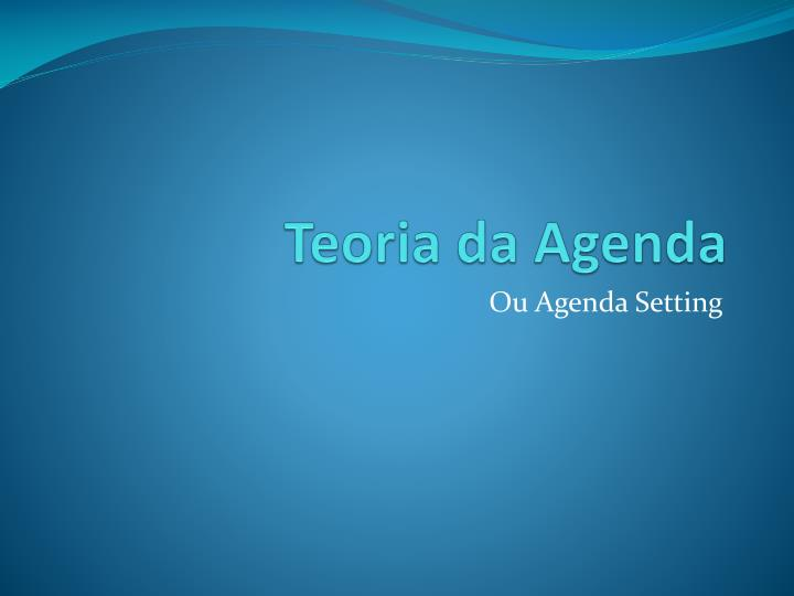 teoria da agenda n.