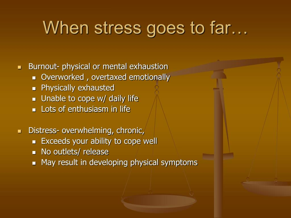 When stress goes to far…