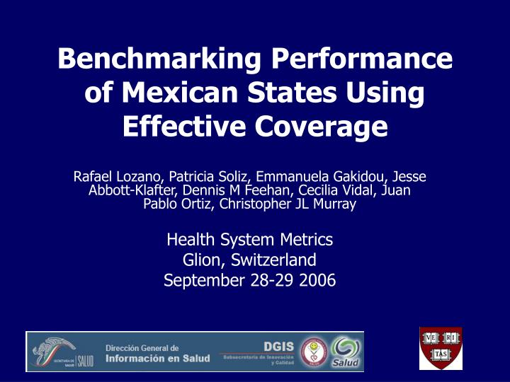 benchmarking performance of mexican states using effective coverage n.