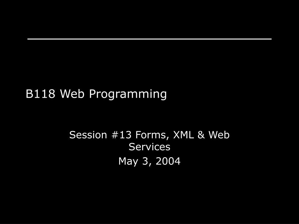 b118 web programming l.