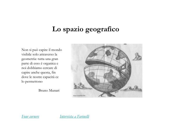 lo spazio geografico n.