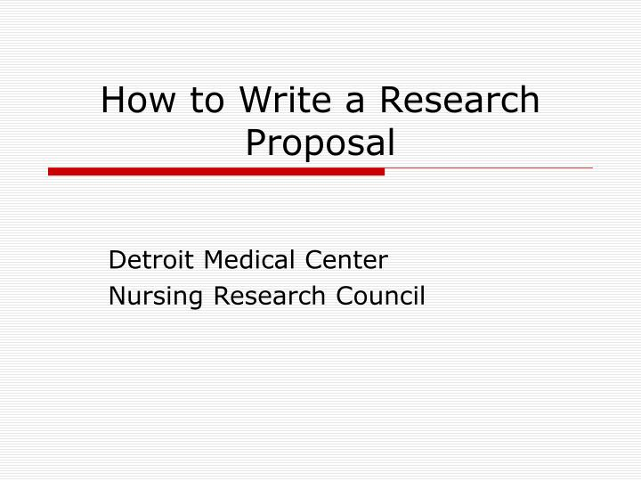 research proposal presentation powerpoint