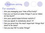 3 problem solving