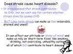 does stress cause heart disease