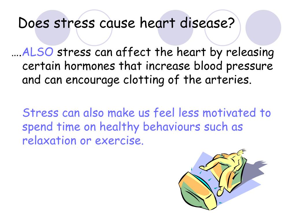 Does stress cause heart disease?