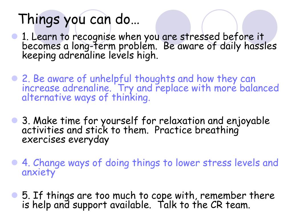 Things you can do…