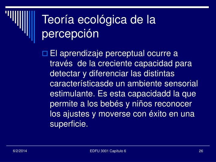 Teoría ecológica de la percepción