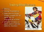 training modifications1