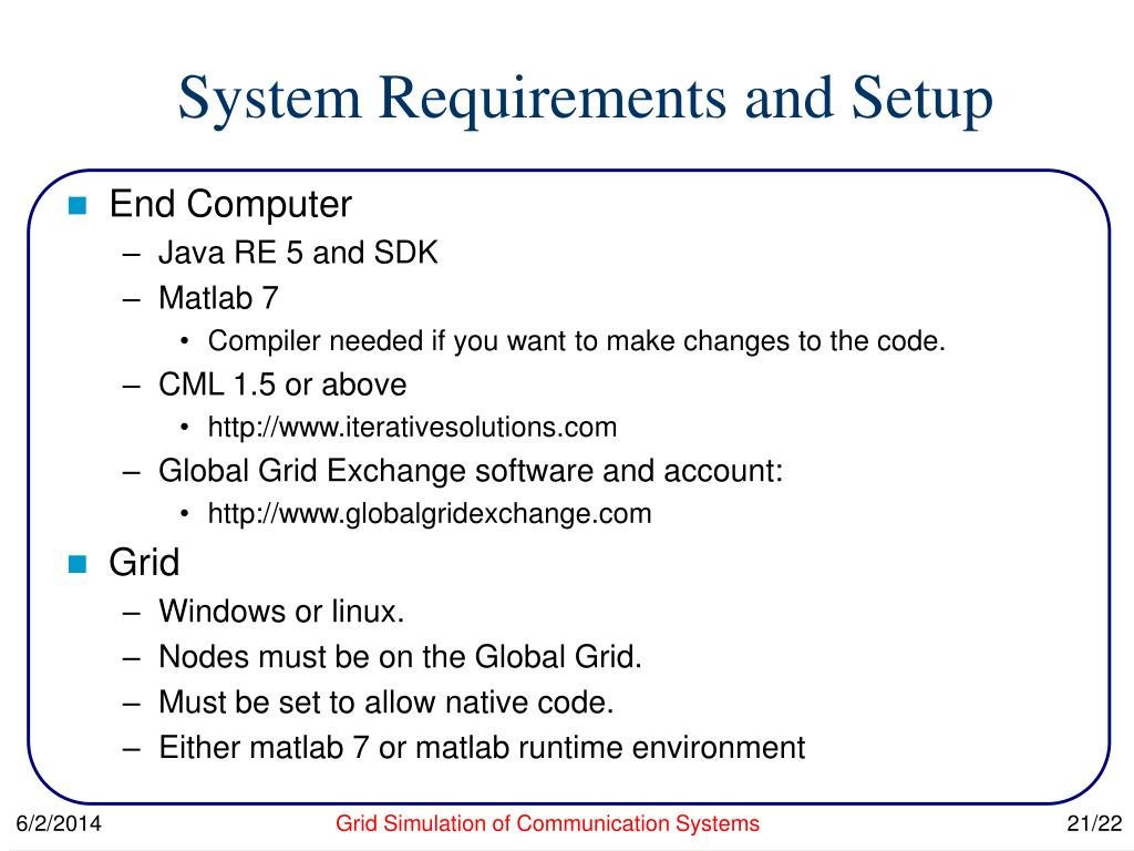 PPT - Distributed Simulation of Modern Communication Systems