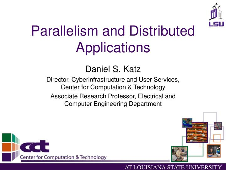 parallelism and distributed applications n.