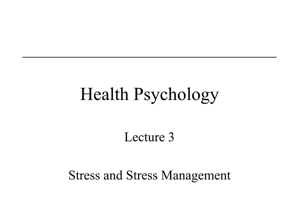 health psychology l.