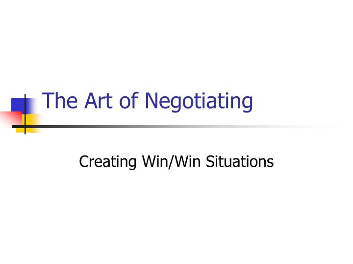 the art of negotiating n.