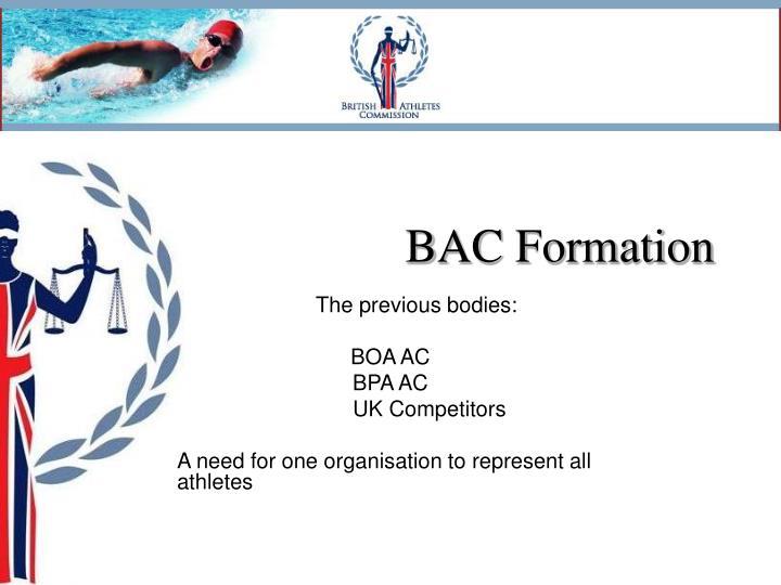 Bac formation