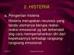 2 histeria