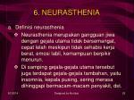 6 neurasthenia