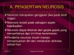 a pengertian neurosis