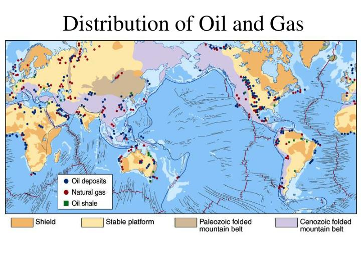 Distribution of Oil and Gas