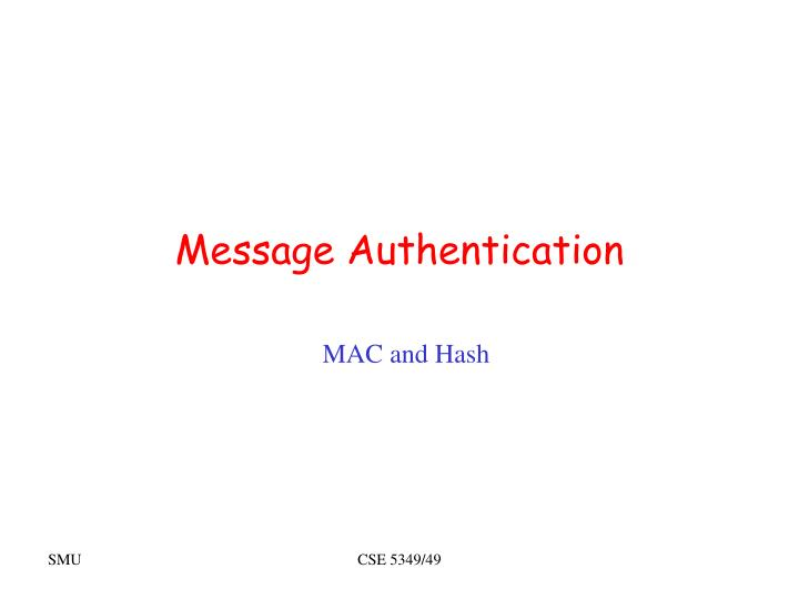 message authentication n.