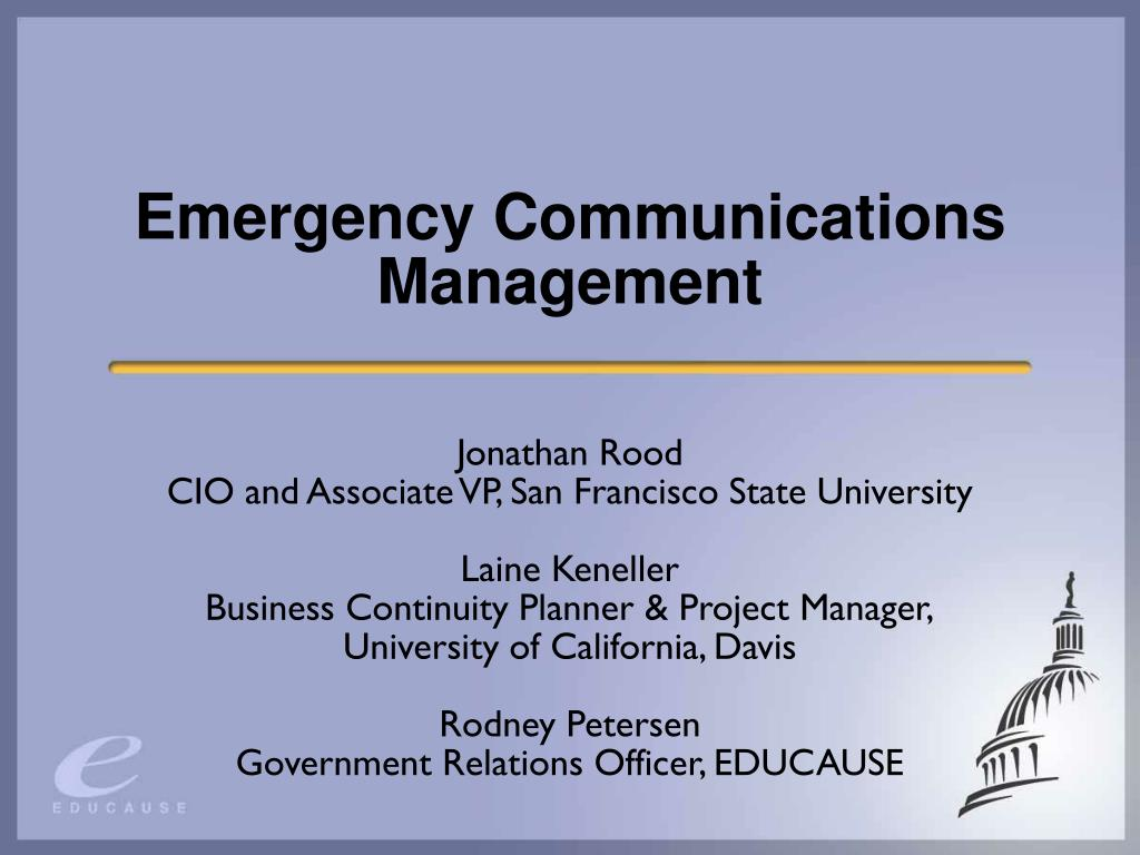 emergency communications management l.