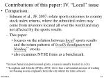 contributions of this paper iv local issue1