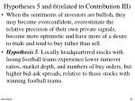 hypotheses 5 and 6 related to contribution iii