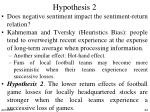hypothesis 2