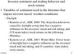 investor sentiment and trading behavior and stock returns2