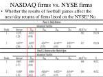 nasdaq firms vs nyse firms