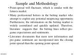 sample and methodology5