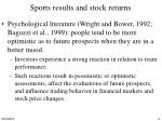 sports results and stock returns