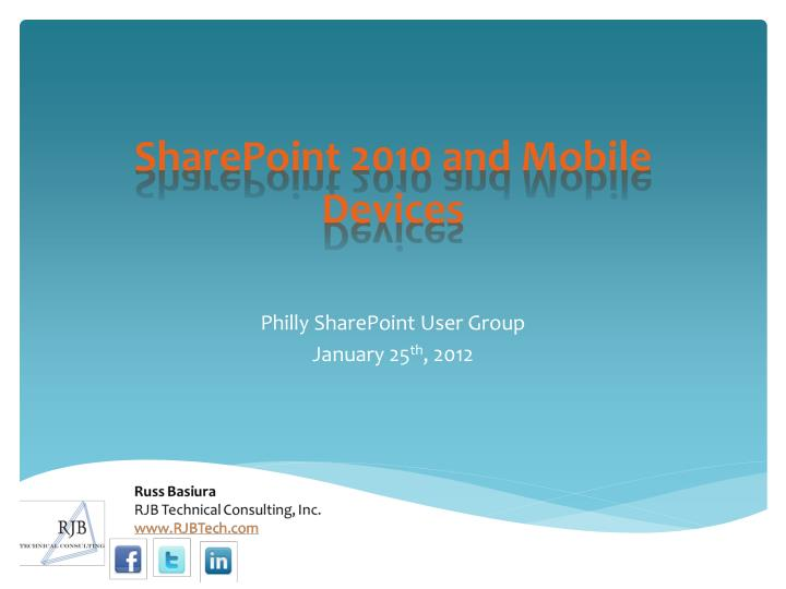 sharepoint 2010 and mobile devices n.