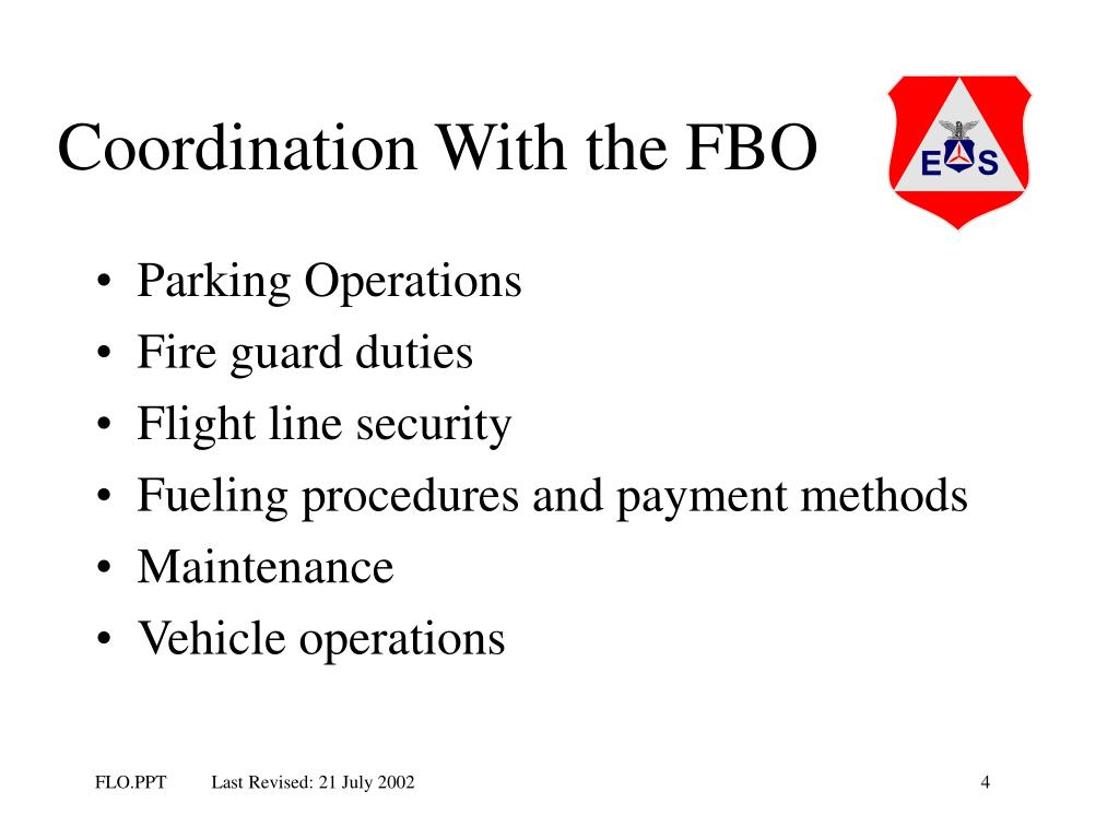 Coordination With the FBO