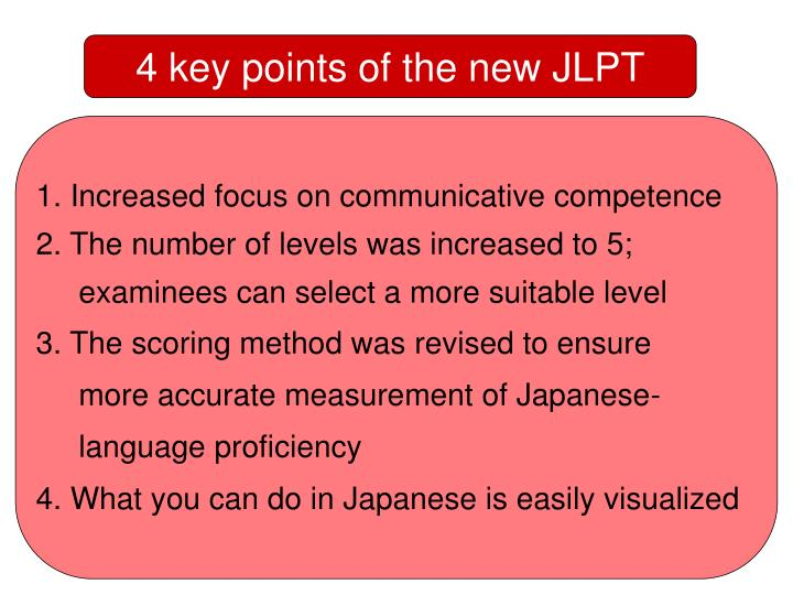 4 key points of the new JLPT