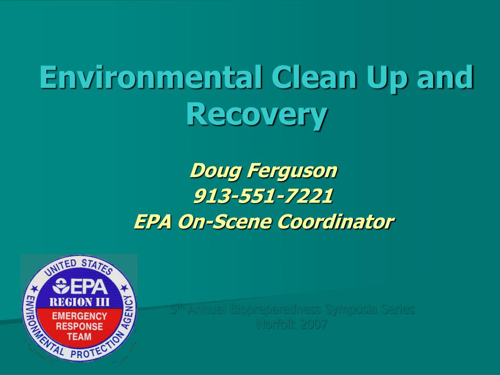 environmental clean up and recovery l.