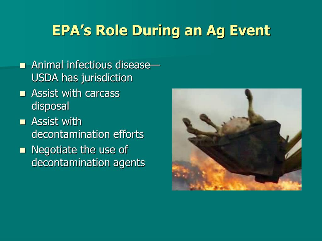 EPA's Role During an Ag Event